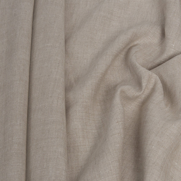 Beige  100% Linen 1720 - Fabrics4Fashion