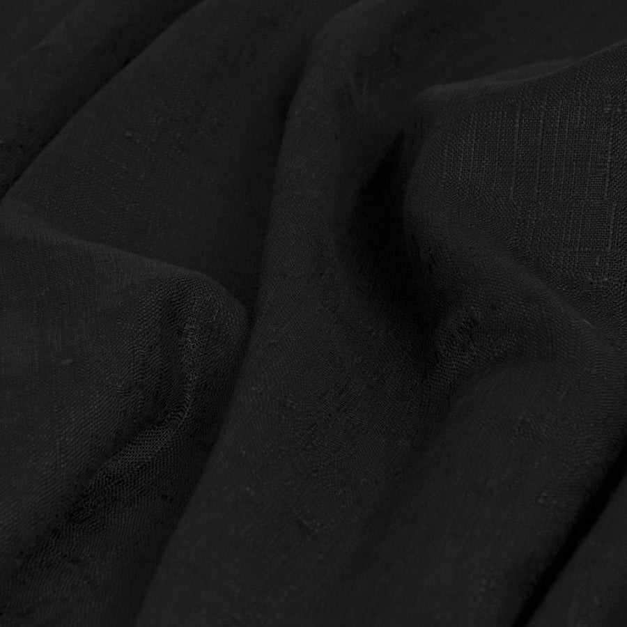 Black Linen / Viscose Fabric 1729 - Fabrics4Fashion