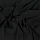 Black Stretch Cotton / Linen 1731 - Fabrics4Fashion