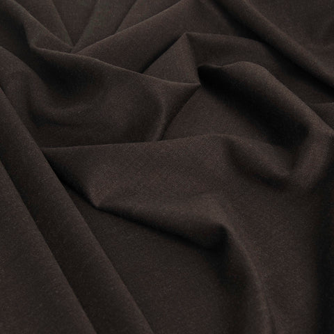 Chocolate Brown Stretch Suiting Fabric 1807 - Fabrics4Fashion