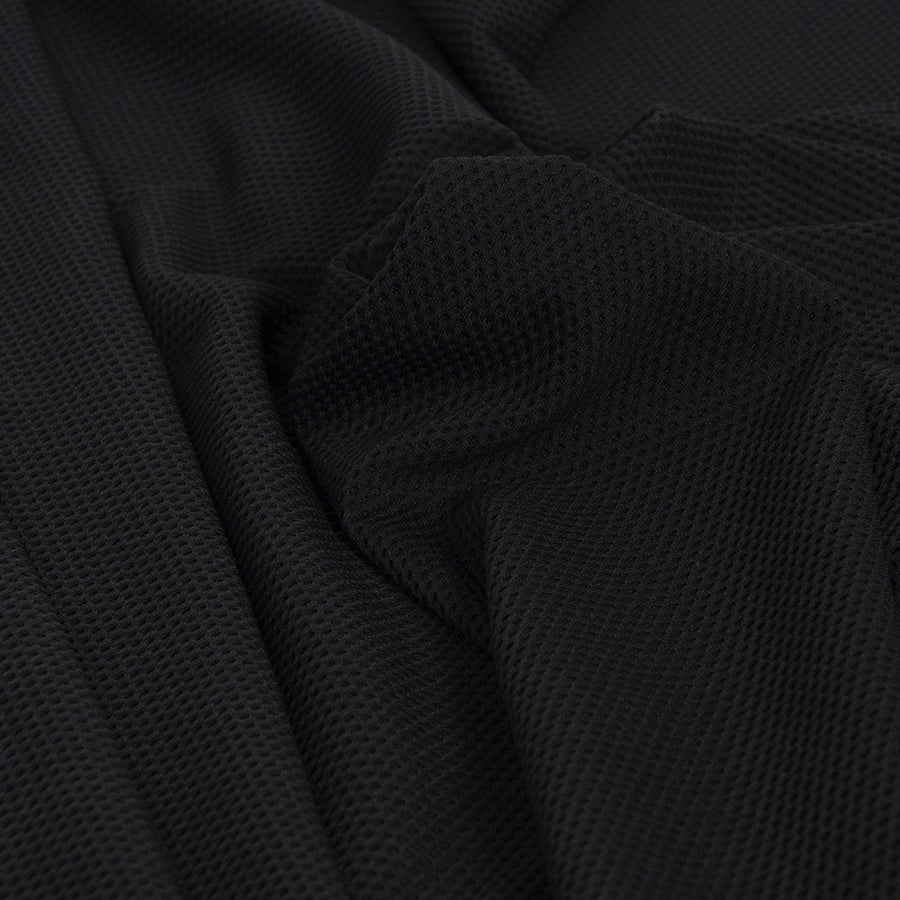 Black Perforated Jersey 1852 - Fabrics4Fashion