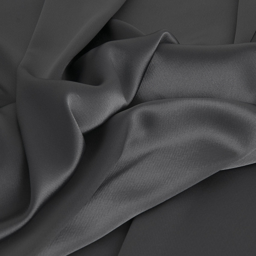 Grey Blouseweight Satin 1960 - Fabrics4Fashion