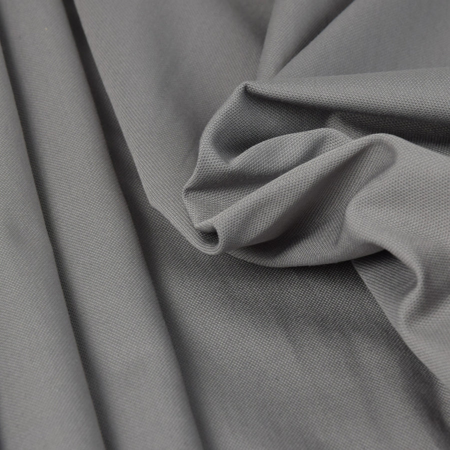 Grey Stretch Cotton Canvas Fabric 3302 - Fabrics4Fashion