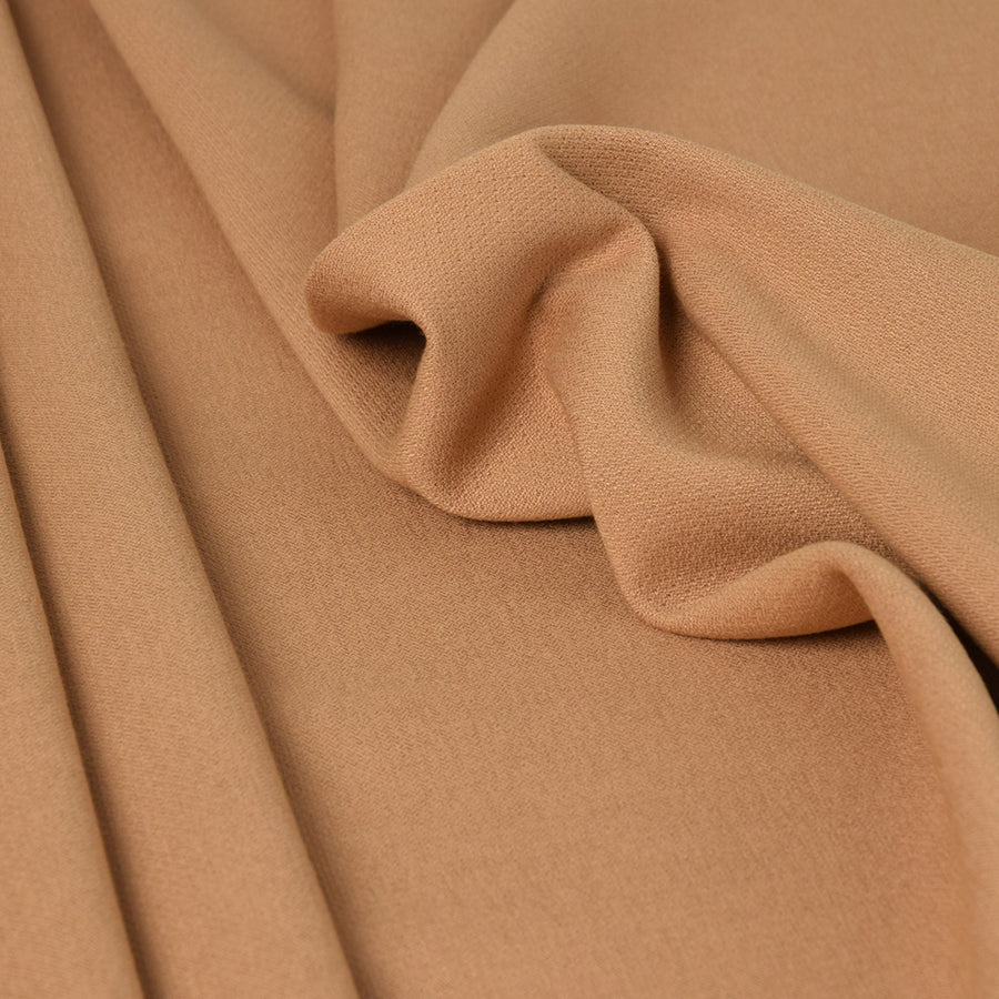 Sand Stretch Viscose Wool Fabric 3301 - Fabrics4Fashion