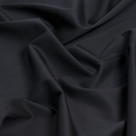 Navy Stretch Suiting Fabric 2Woven