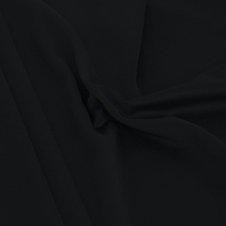 Black Melton Wool 2028 - Fabrics4Fashion