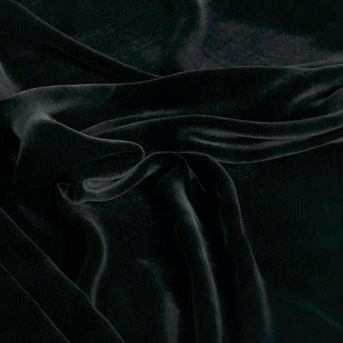 Black Cupro Velvet 2031 - Fabrics4Fashion
