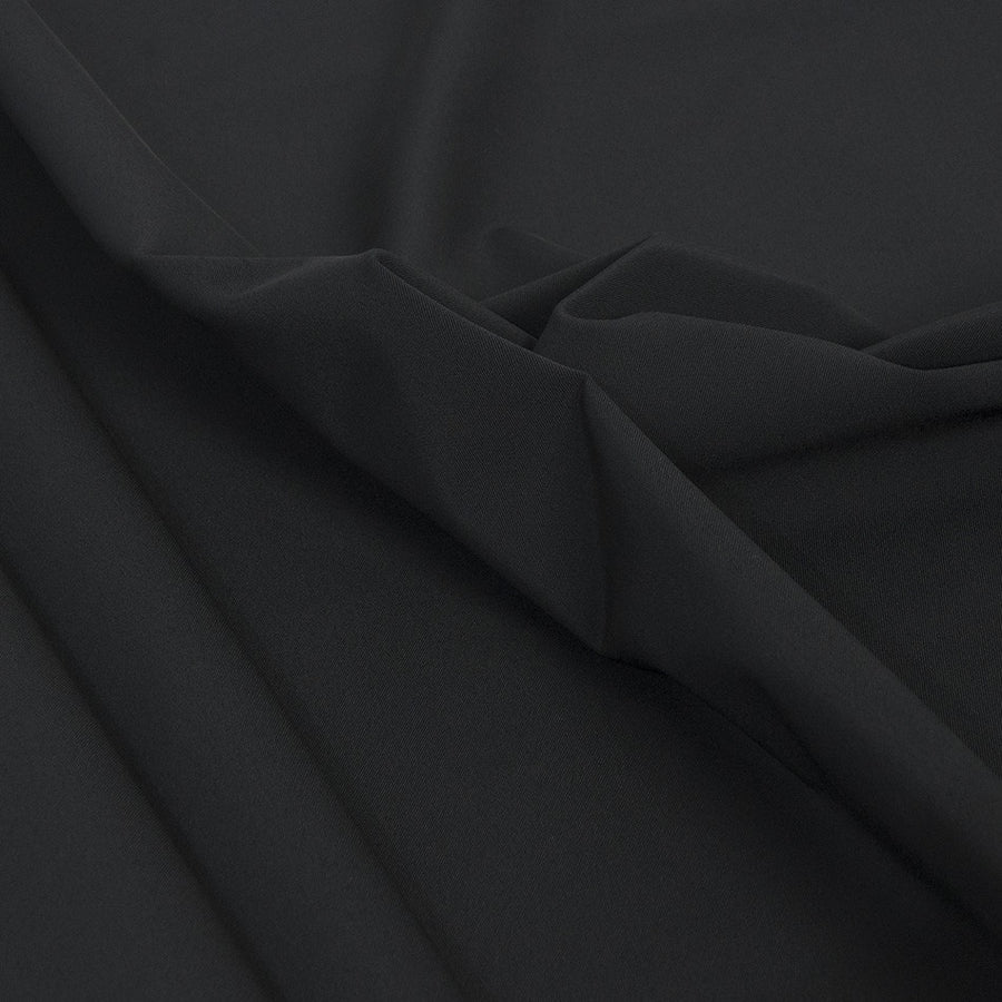 Black Stretchy Polyester Fabric 2109 - Fabrics4Fashion