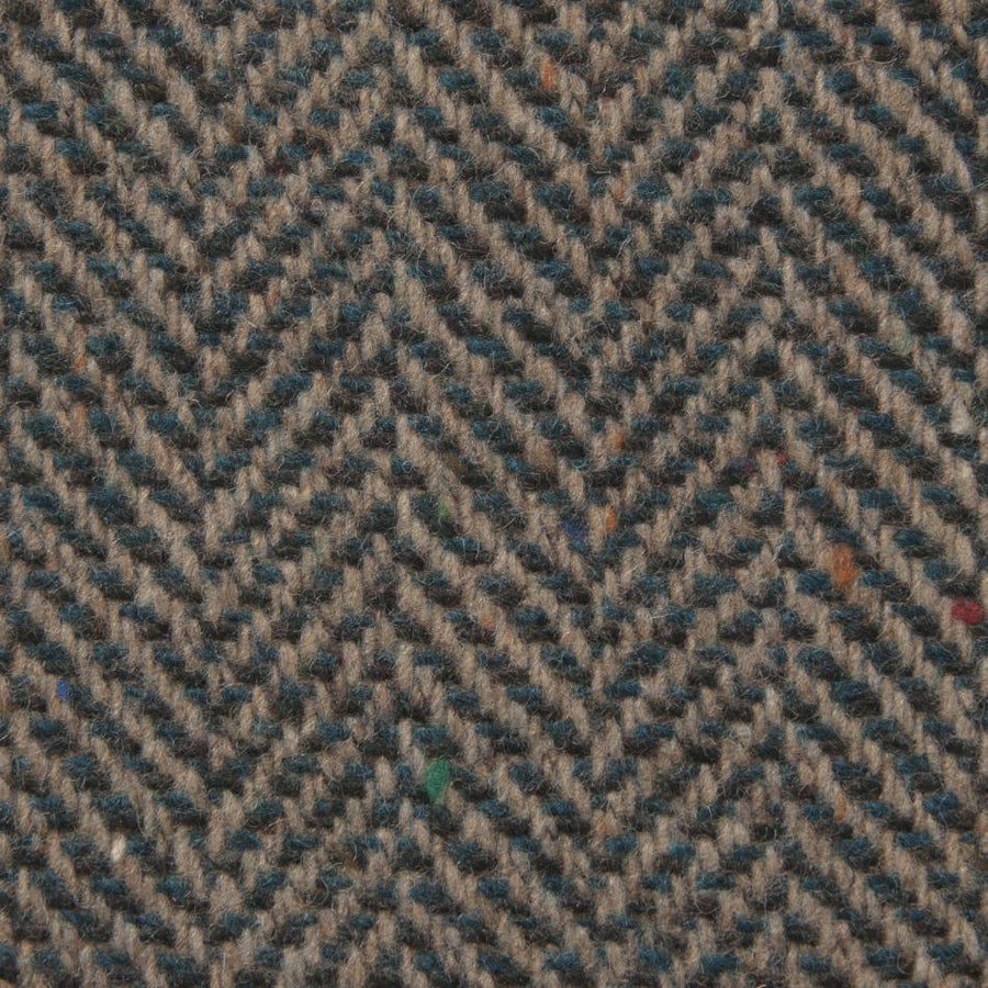 Peacock Blue Herringbone Tweed 211 - Fabrics4Fashion