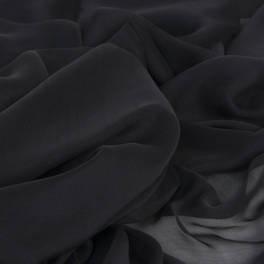 Black Poly Chiffon 2119 - Fabrics4Fashion
