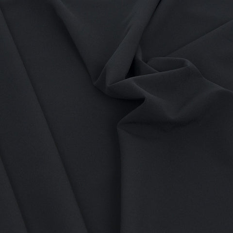 Black Polyester Stretch Fabric 2124 - Fabrics4Fashion