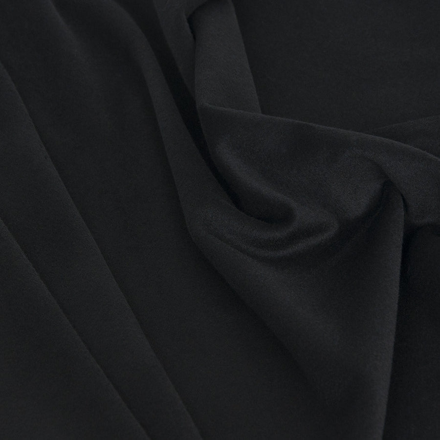 Black Felted Poly/ Virgin Wool 2127 - Fabrics4Fashion
