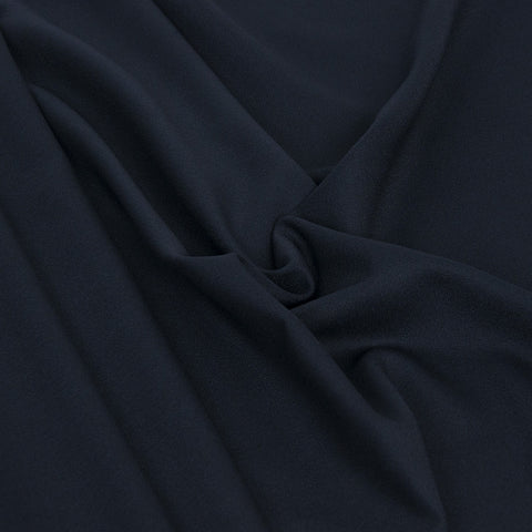 Navy Poly Wool Crepe 22Woven