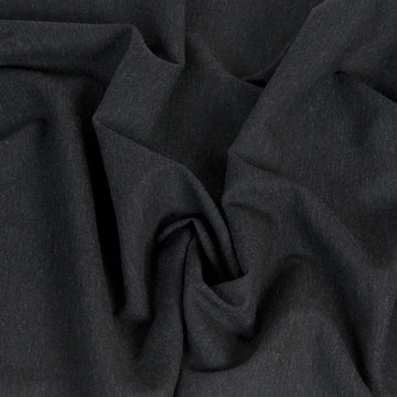 Charcoal Flannel Linen/Wool Blend 223 - Fabrics4Fashion