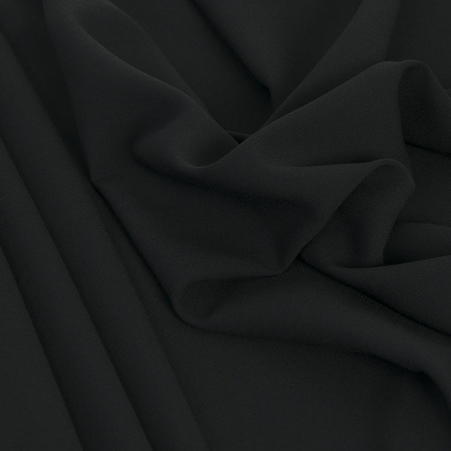 Black Mid-weight Suiting Fabric 2275 - Fabrics4Fashion