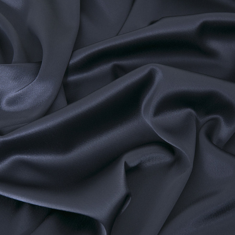 Midnight Blue Stretch Satin 2283Woven