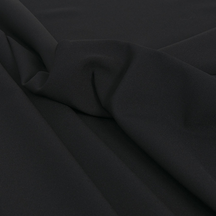 Jet Black Polyester 2293 - Fabrics4Fashion