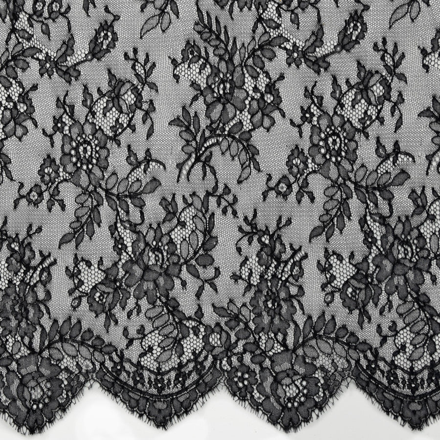 Black Scallop Lace 2301 - Fabrics4Fashion