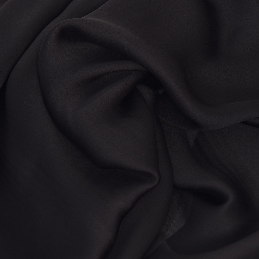Black Chiffon Silk 2303 - Fabrics4Fashion