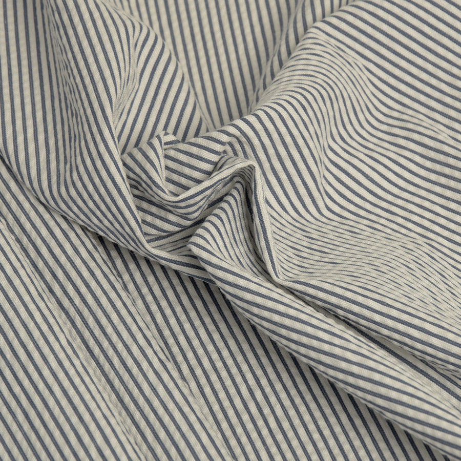 Navy/White Stripes Cotton 2307Woven