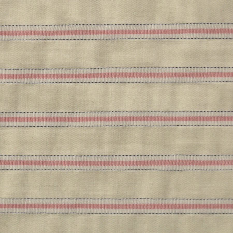 Beige/Pink Stripes Cotton 2309 - Fabrics4Fashion
