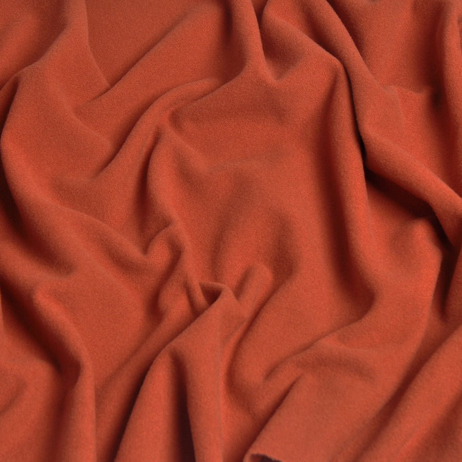 Orange Wool/ Cashmere Fabric 233Woven