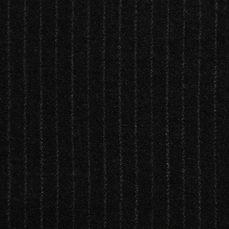 Charcoal Pinstripe Suiting Flannel 2344 - Fabrics4Fashion