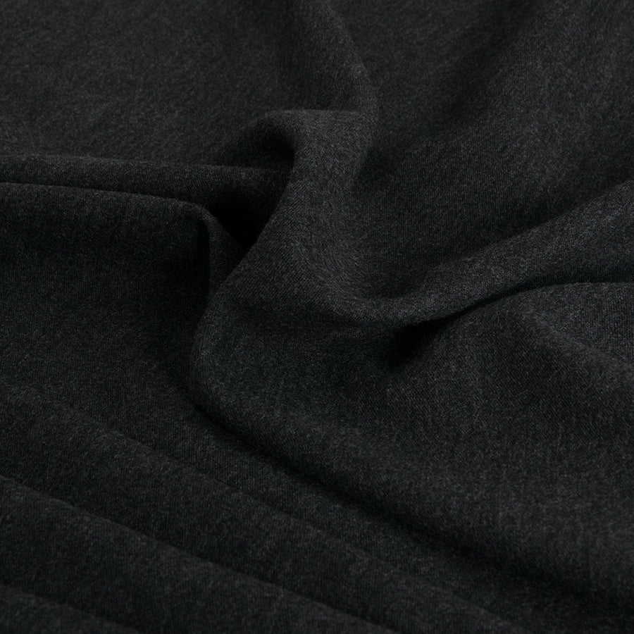 Charcoal Suiting Flannel 2349 - Fabrics4Fashion