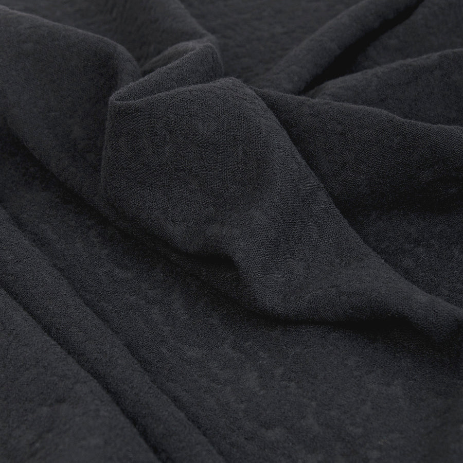 Black Textured Wool Blend 2354 - Fabrics4Fashion