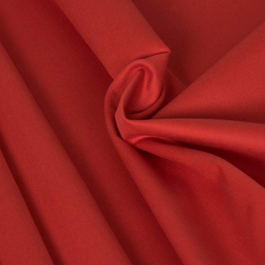 Vibrant Red Stretch Twill 2357Woven