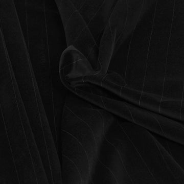 Black Pinstripe Stretch Velvet 2367 - Fabrics4Fashion