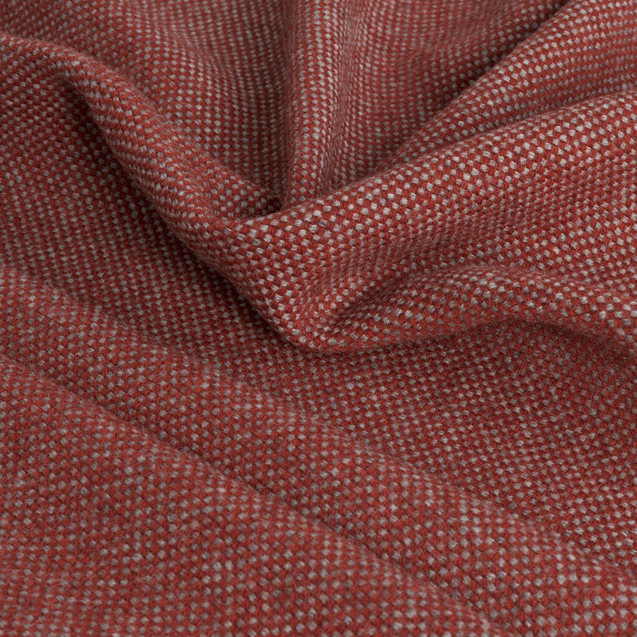 Red and Grey Wool Fabric 2380Woven