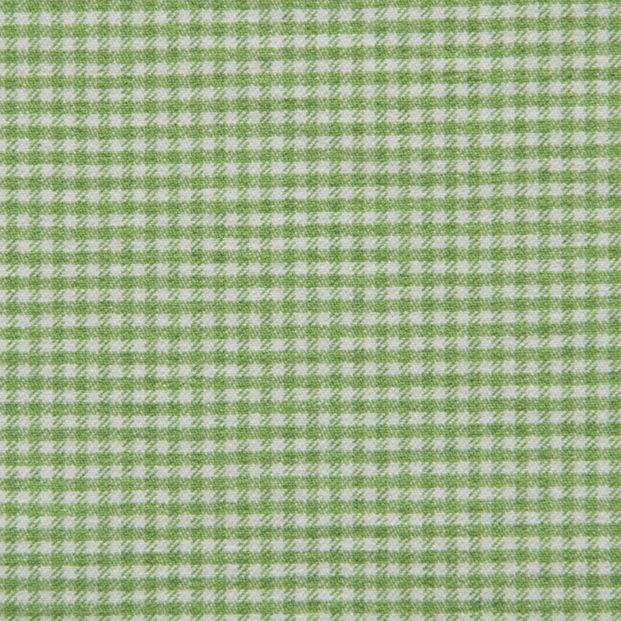 Green and White Stretchy Vichy 2422 - Fabrics4Fashion