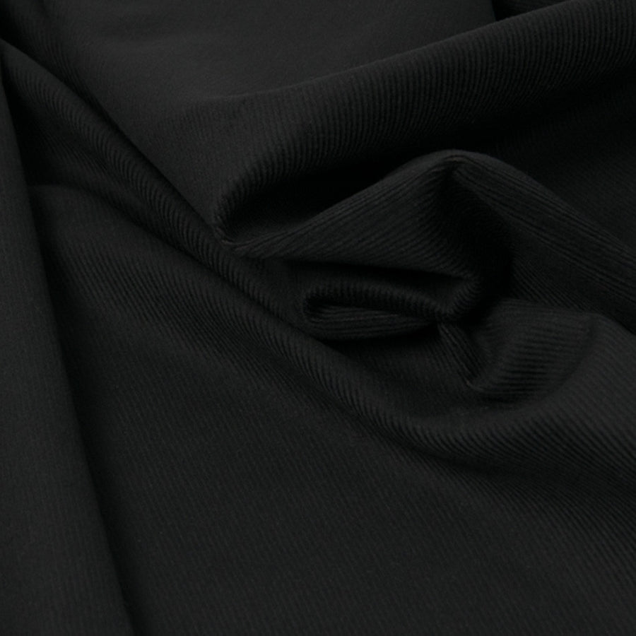 Black Stretchy Corduroy Fabric 2423 - Fabrics4Fashion