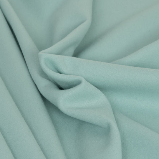 Acqua Green Light Melton 2503 - Fabrics4Fashion