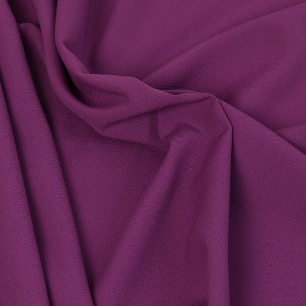 Magenta Poly Viscose Stretch Fabric 3458Woven