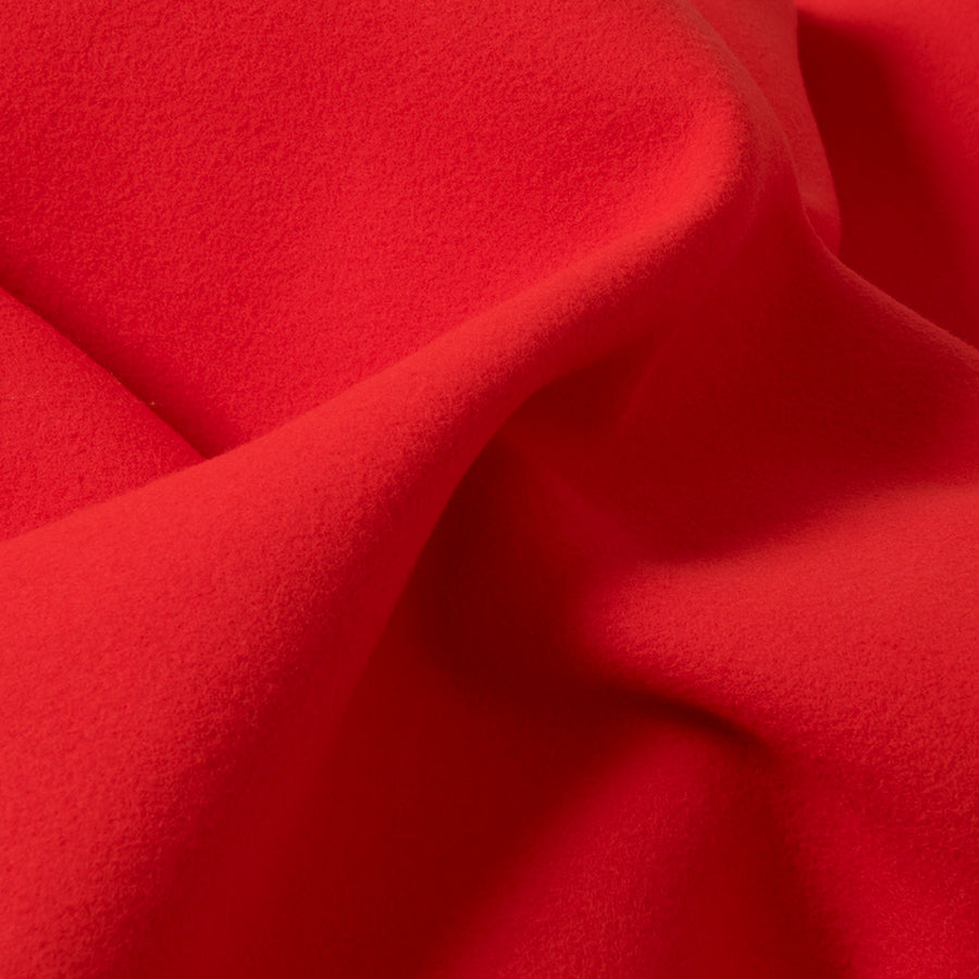 Vibrant Red Coating Wool Fabric 2717Woven