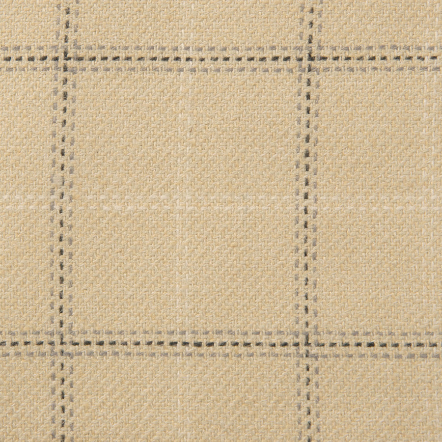 Beige Check Stretch Silk Blend 278Woven