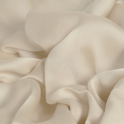 Cream Chiffon Silk 280 - Fabrics4Fashion
