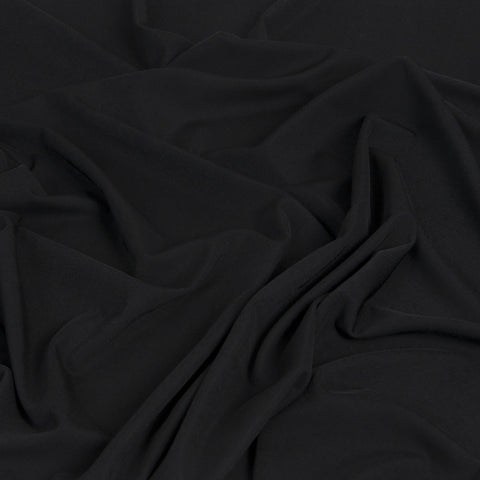 Black Fluid Poly Jersey 308 - Fabrics4Fashion