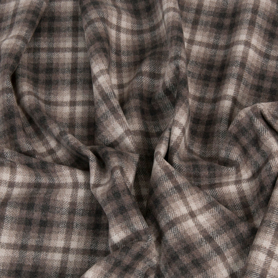 Brown Check Coating Fabric 1434 - Fabrics4Fashion