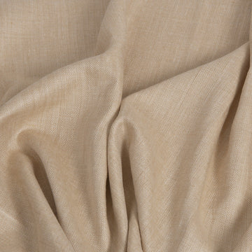 Gold Beige Herringbone Linen 325 - Fabrics4Fashion