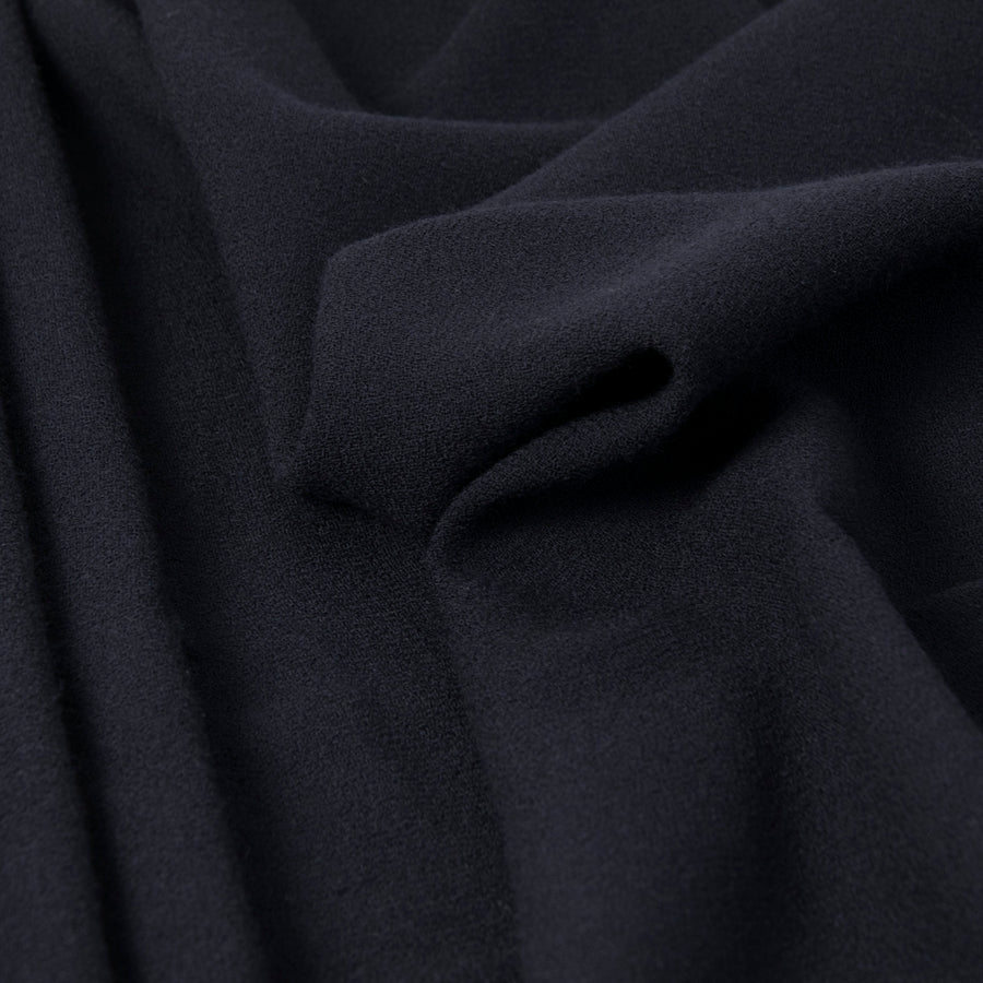 Midnight Blue Wool Crepe 3284Woven