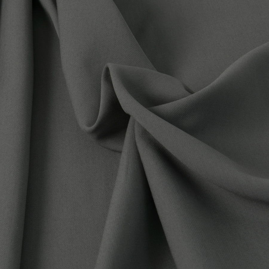 Charcoal Grey Viscose Suiting Fabric 3289 - Fabrics4Fashion