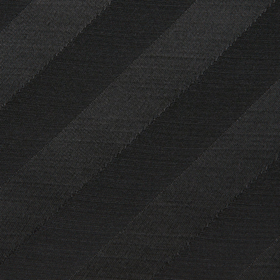 Black Striped Satin Wool Blended  332 - Fabrics4Fashion