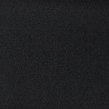 Solid Black Virgin Wool Crepe 363Woven