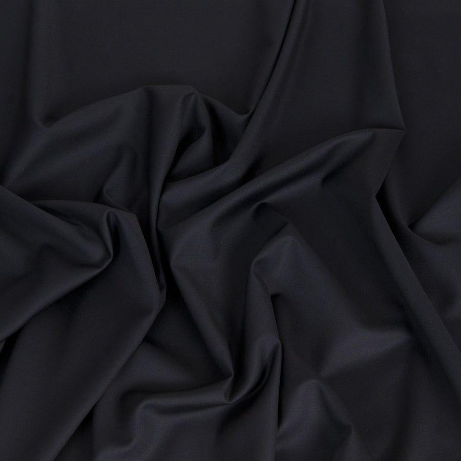 Black Wool Polyester 377 - Fabrics4Fashion