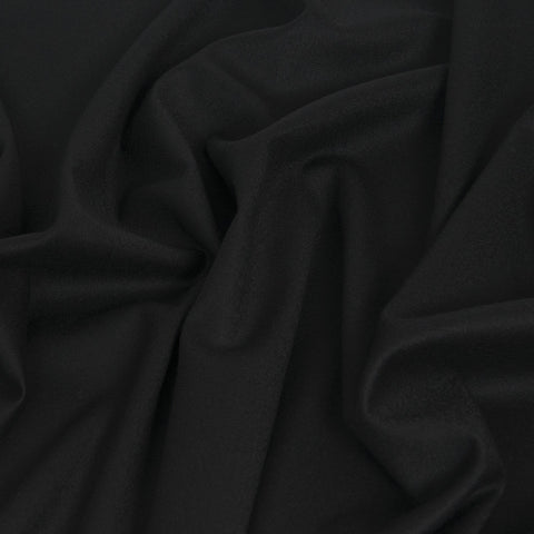 Black Suiting Flannel 382 - Fabrics4Fashion