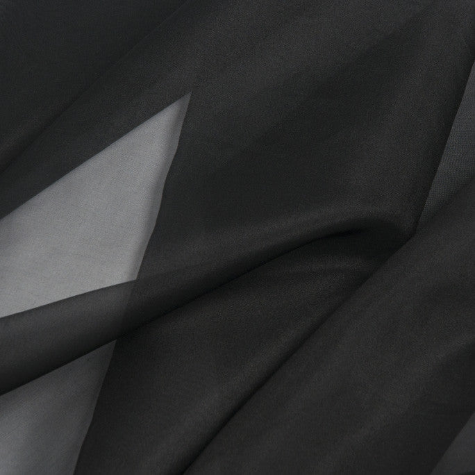 Black Silk Organza 384 - Fabrics4Fashion