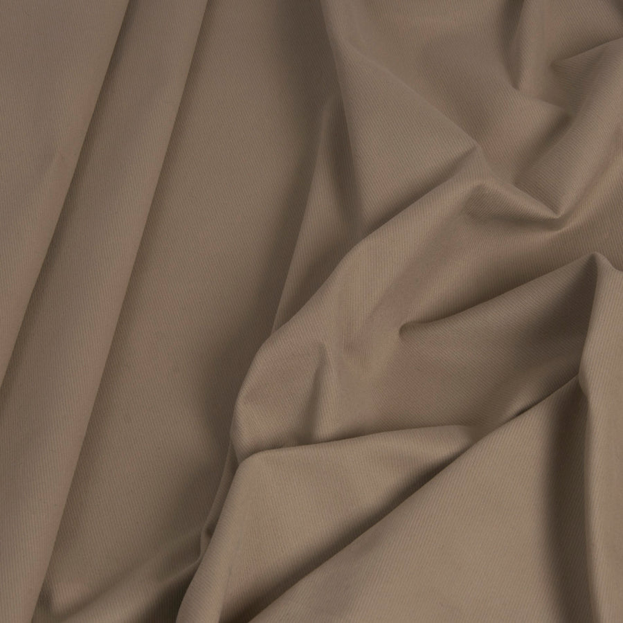 Beige Cotton Stretch Twill 1470Woven